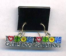 I Love Quilting Earrings