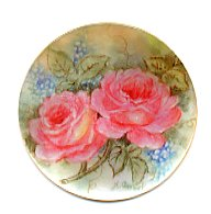 MOP - Large Peach Roses